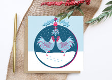 Load image into Gallery viewer, Mistletoe Chickens Christmas Card