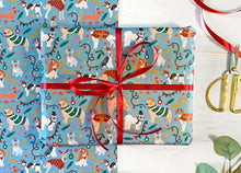 Load image into Gallery viewer, Christmas Dogs Wrapping Paper