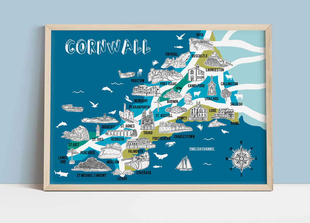 Cornwall Illustrated Map