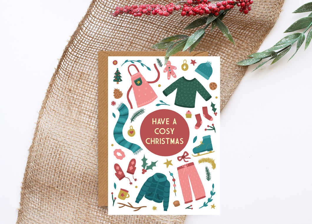 Cosy Foiled Christmas Card