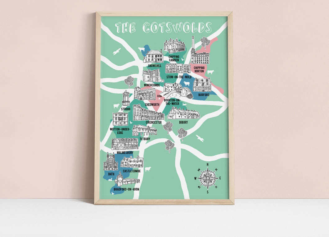 Cotswolds Illustrated Map