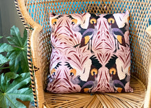 Load image into Gallery viewer, Grey Crowned Crane Cushion