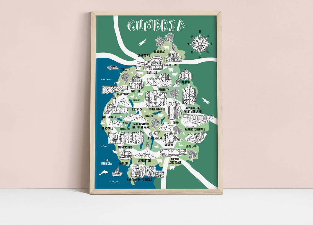 Cumbria Illustrated Map