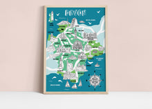Load image into Gallery viewer, Devon Illustrated Map