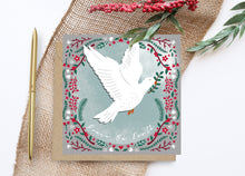 Load image into Gallery viewer, Dove Christmas Card