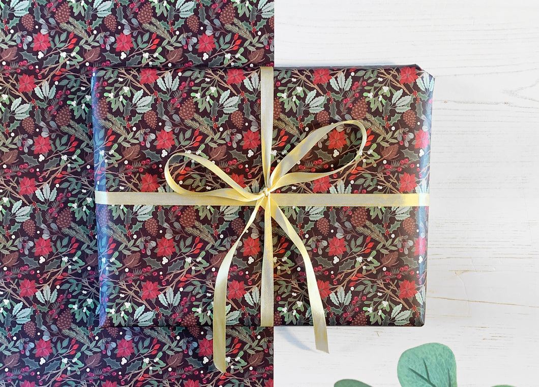 Christmas Foliage Wrapping Paper