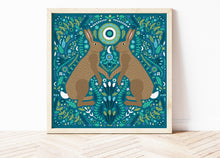Load image into Gallery viewer, Folk Hare Print