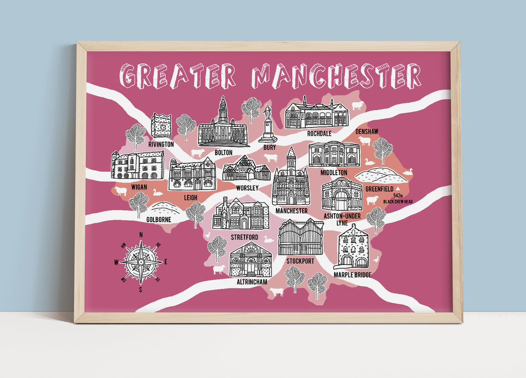 Greater Manchester Illustrated Map