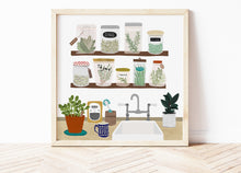 Load image into Gallery viewer, Kitchen Herbs and Spices Print