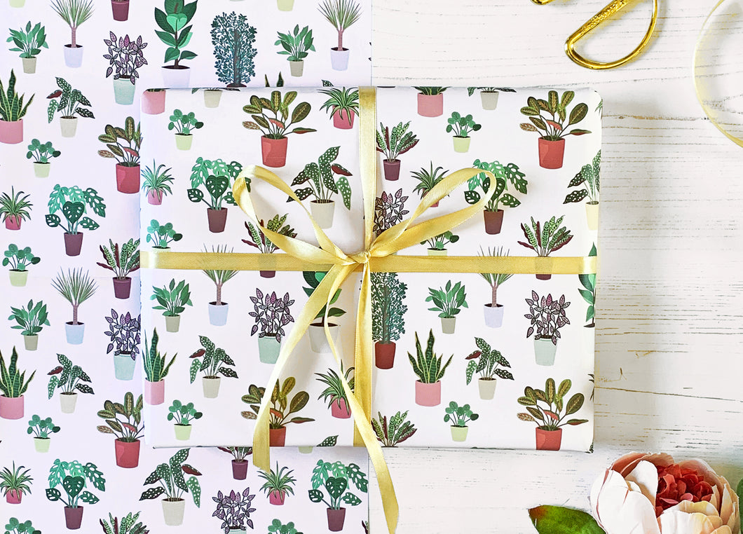 House Plant Wrapping Paper