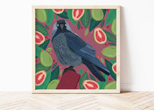 Load image into Gallery viewer, Jackdaw and Guavas Print