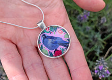 Load image into Gallery viewer, Jackdaw and Guavas Pendant Necklace