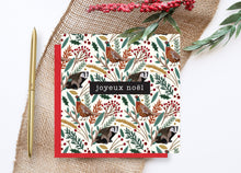 Load image into Gallery viewer, Pheasant and Badger Christmas Card