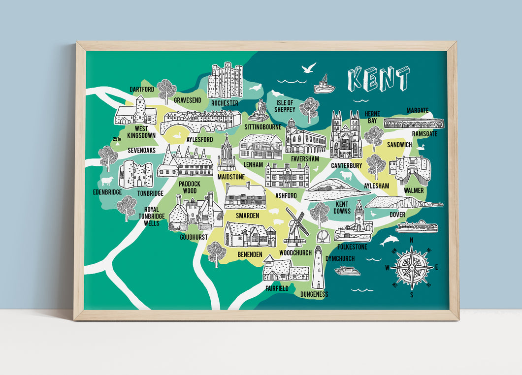 Kent Illustrated Map