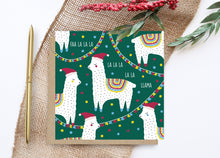Load image into Gallery viewer, Llama Christmas Card