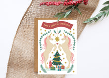 Load image into Gallery viewer, Magical Unicorn Foiled Christmas Card
