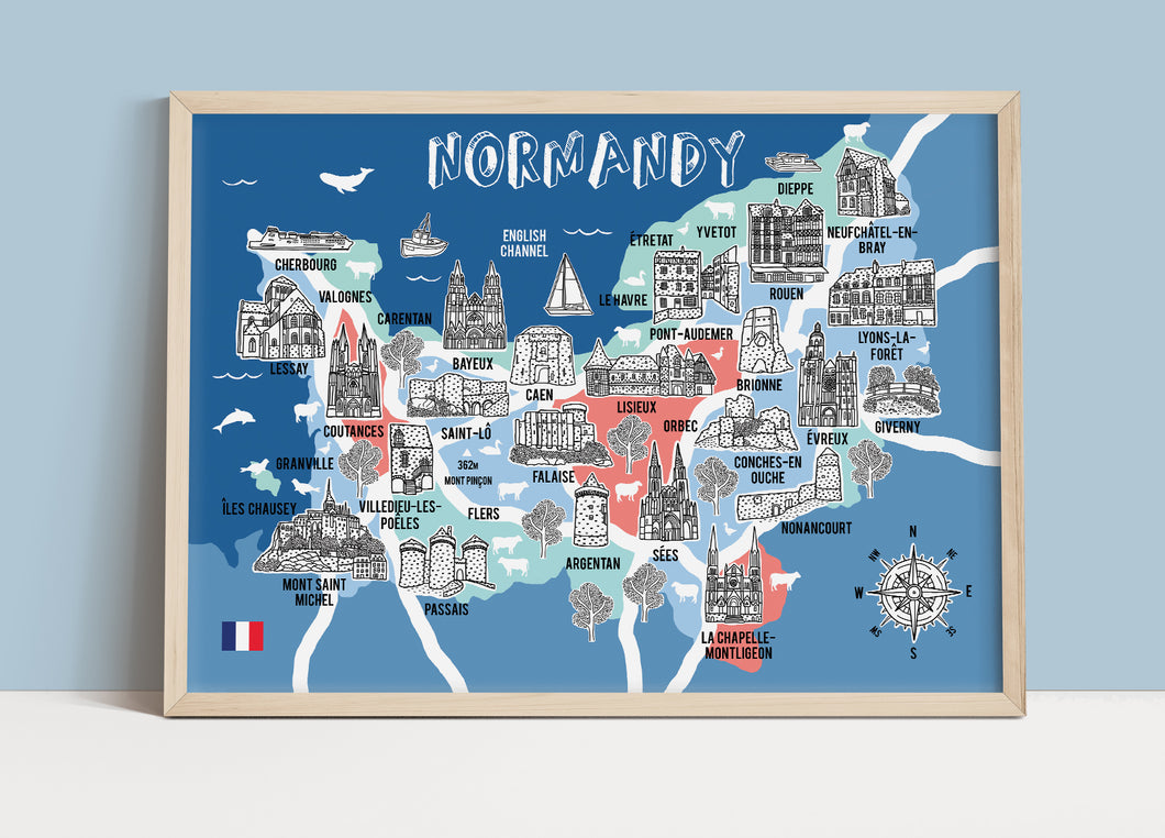 Normandy Illustrated Map