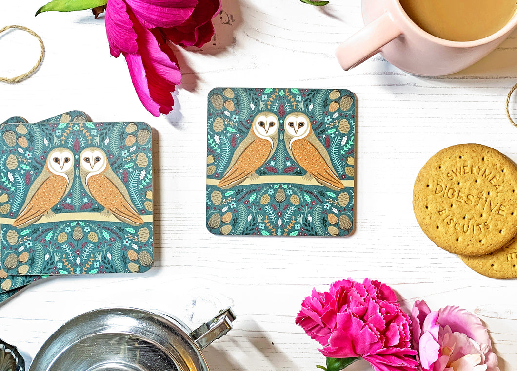 Folk Owl Coaster
