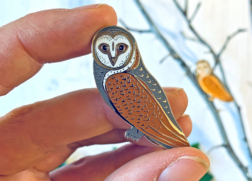 Folk Owl Enamel Pin