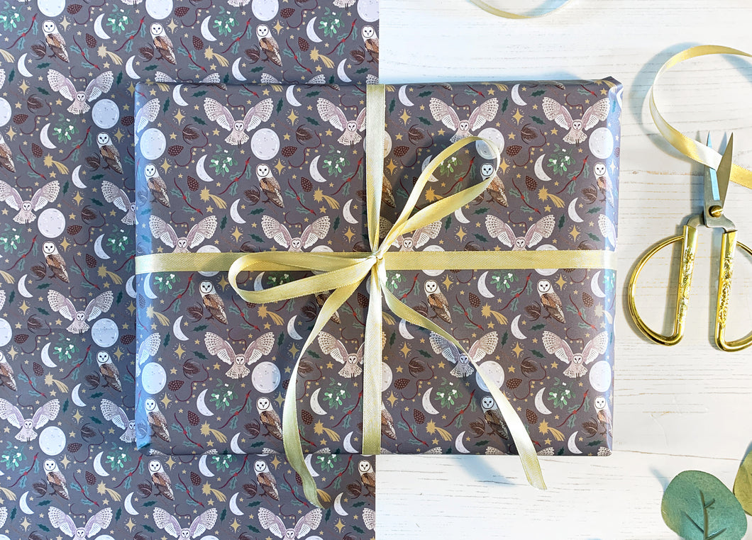 Christmas Owls Wrapping Paper