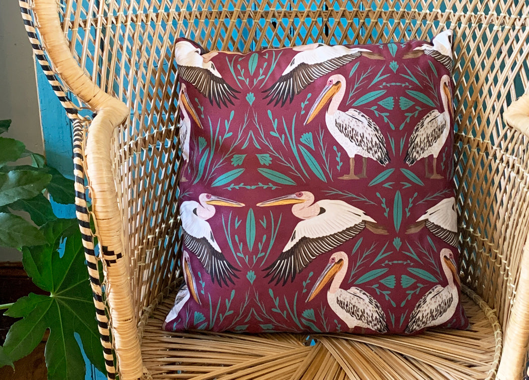 Great White Pelican Cushion