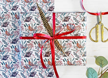 Load image into Gallery viewer, Christmas Pheasant Wrapping Paper