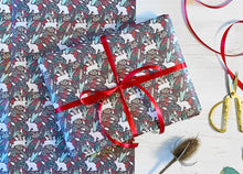 Load image into Gallery viewer, Christmas Snow Hare Wrapping Paper