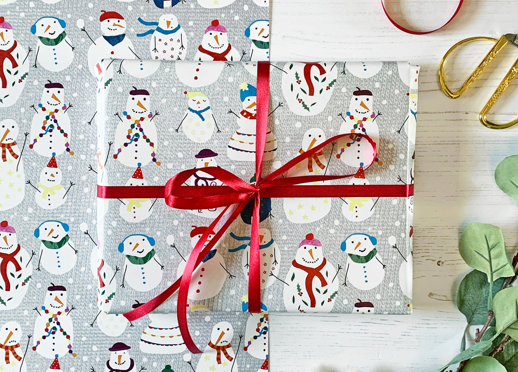 Christmas Snowmen Wrapping Paper