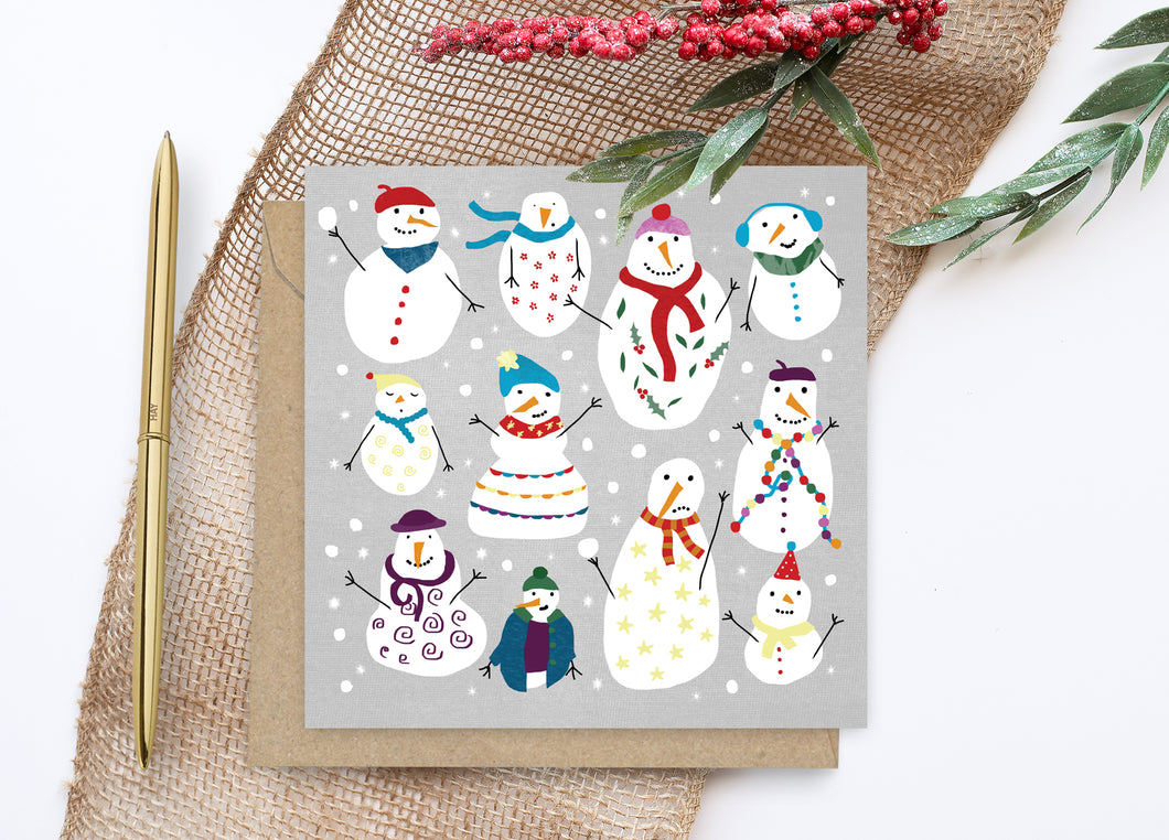 Snowmen Christmas Card