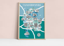 Load image into Gallery viewer, Staffordshire Illustrated Map