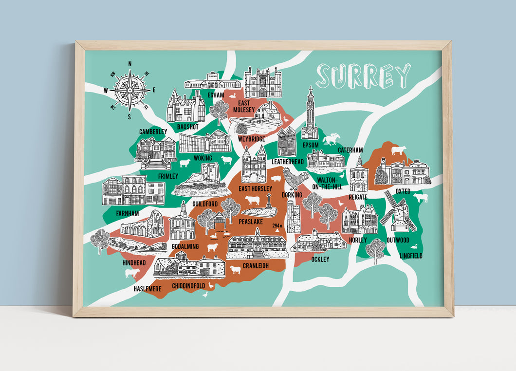 Surrey Illustrated Map