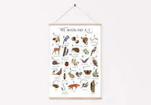 Load image into Gallery viewer, A-Z Woodland Poster