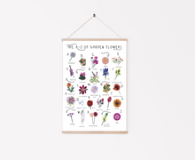 Load image into Gallery viewer, A-Z of Garden Flowers Poster