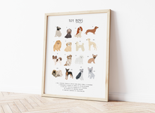 Load image into Gallery viewer, Toy Dog Breeds Print