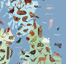 Load image into Gallery viewer, Animal Map of the United Kingdom