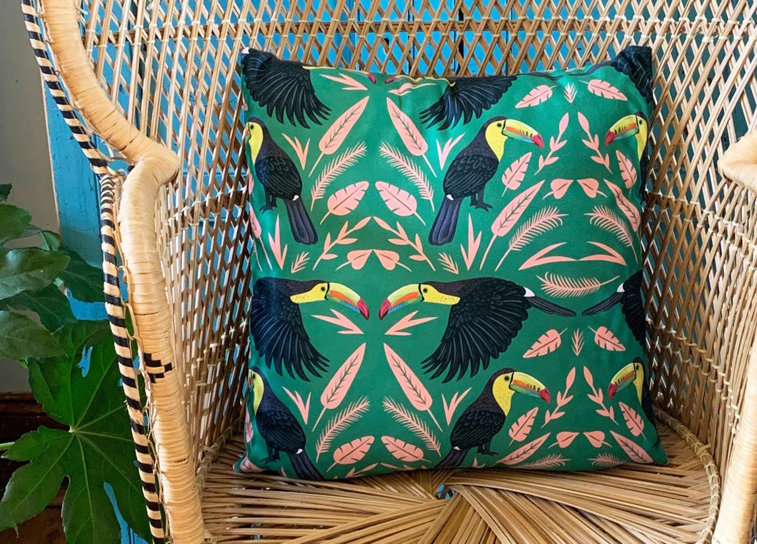 Keel-Billed Toucan Cushion