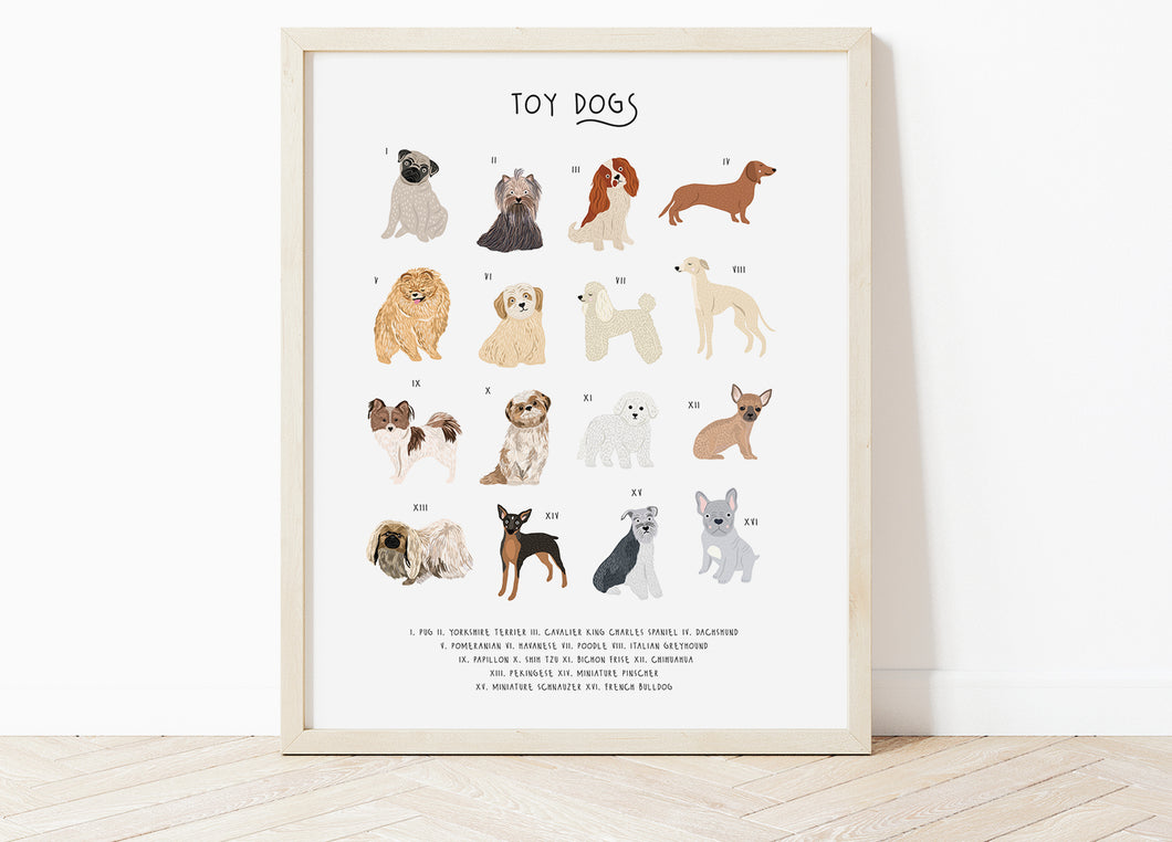 Toy Dog Breeds Print