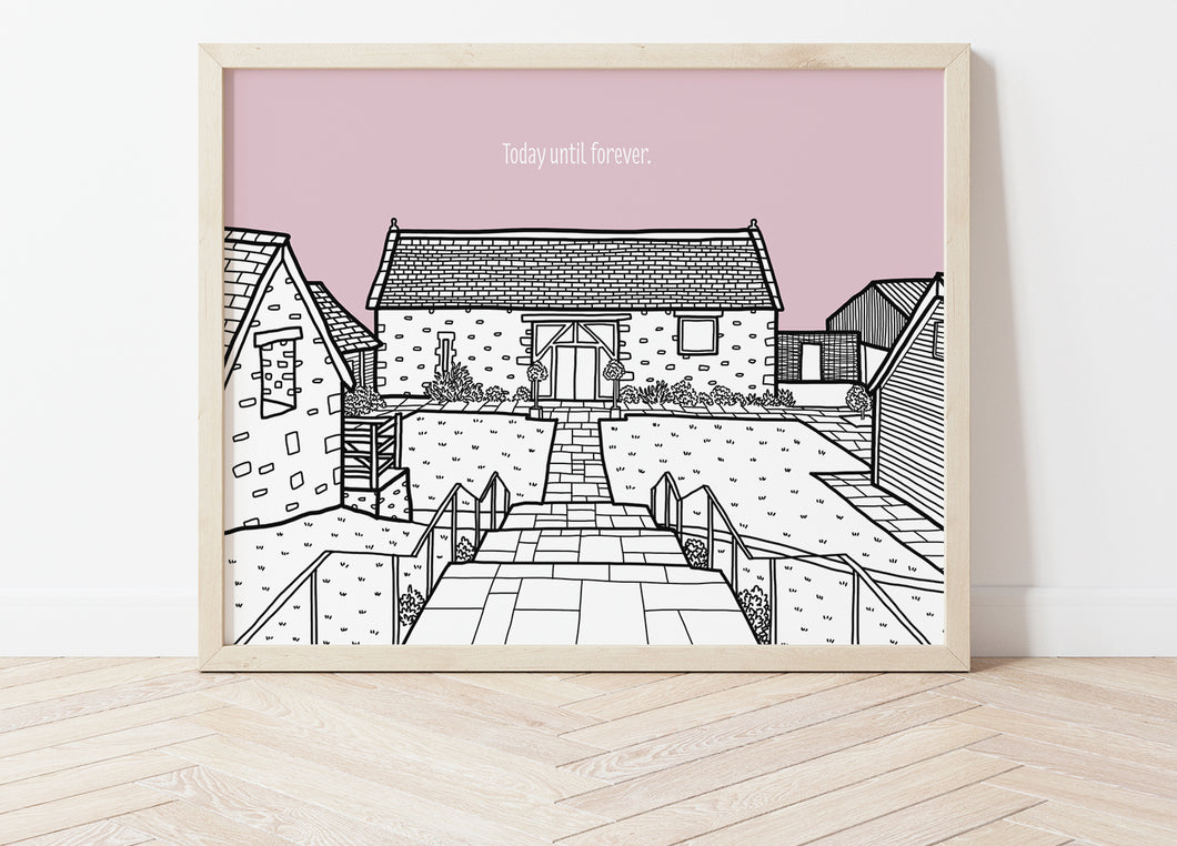 Custom Wedding Venue Portrait Print
