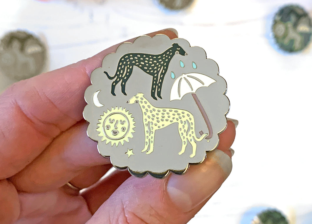 The Whippets Enamel Pin Badge