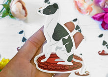 Load image into Gallery viewer, Large Whippet Vinyl Sticker