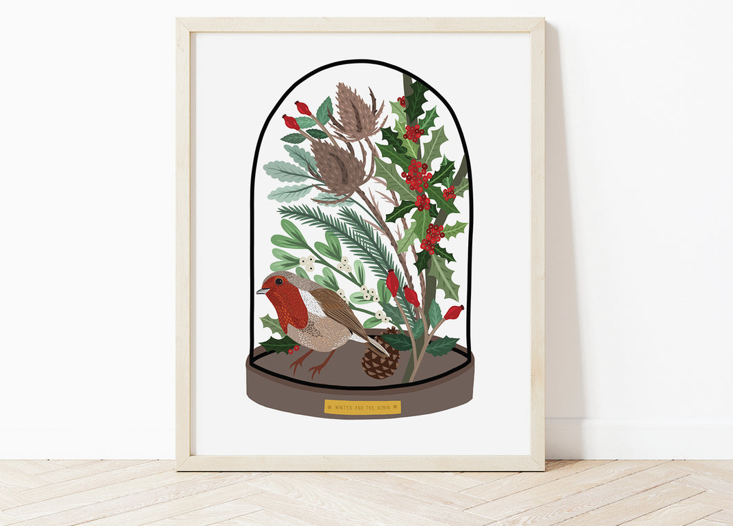 Winter Bell Jar Print