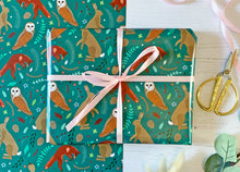 Load image into Gallery viewer, Woodland Animals Wrapping Paper