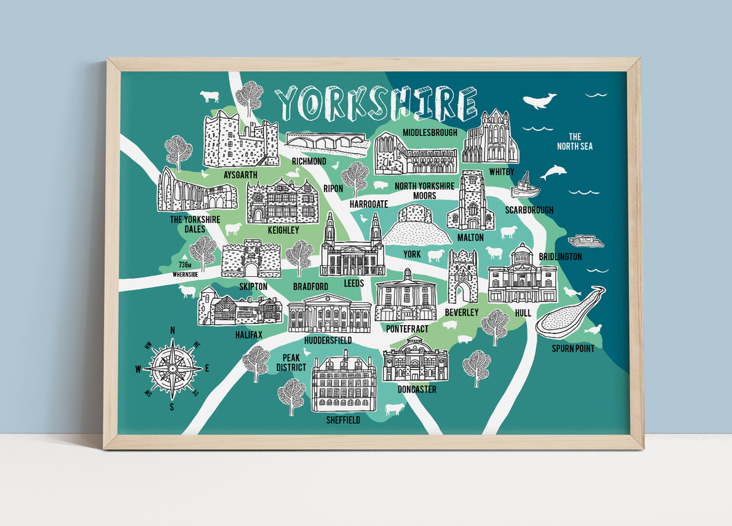 Yorkshire Illustrated Map