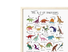 Load image into Gallery viewer, A-Z of Dinosaurs Poster