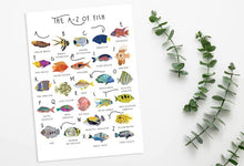 Load image into Gallery viewer, A-Z of Fish Poster