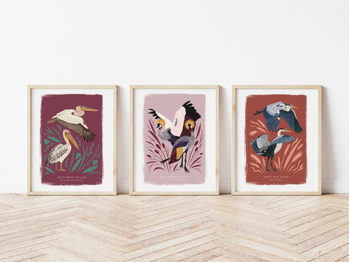 Mix and Match Any 3 Bird Prints