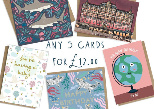 Mix and Match Any 5 Greetings Cards
