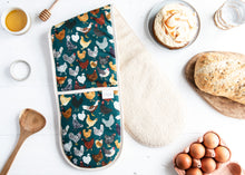 Load image into Gallery viewer, Chicken Print Oven Gloves