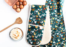 Load image into Gallery viewer, Chicken Oven Glove & Tea Towel Set