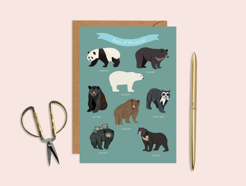 Bears of the World Card